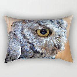 Western Screech Owl profile Rectangular Pillow