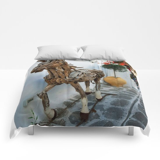 Wood horse Comforters