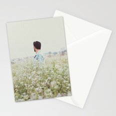 Man - Flowers - Field - Photography Stationery Cards