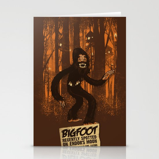 Bigfoot spotted on… Stationery Cards
