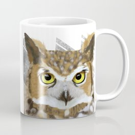 Great Horned Owl & Poly Thoughts Coffee Mug