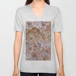 Abstract orange granite pattern Unisex V-Neck