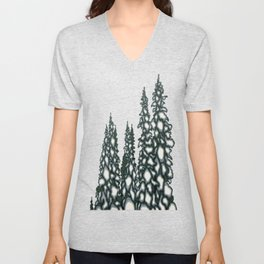 A Blue and Grey Day in Winter Unisex V-Neck