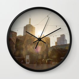 Federation Square Melbourne Wall Clock