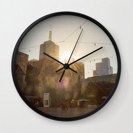 Federation Square Melbourne Wall Clock