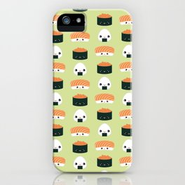 Salmon Dreams in wasabi, large iPhone Case