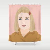 tenenbaums Shower Curtains featuring margot by Britt Whitaker Design