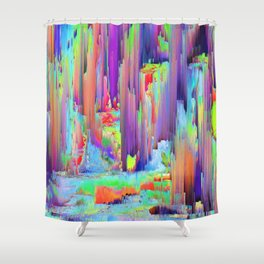 Pixel Sorting 43 Shower Curtain