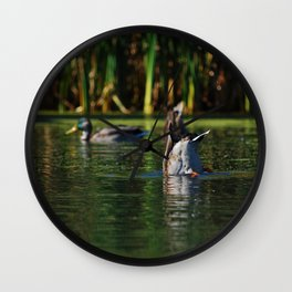 Mallards Tails Up Wall Clock