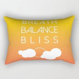 BREATH BALANCE BLISS Rectangular Pillow