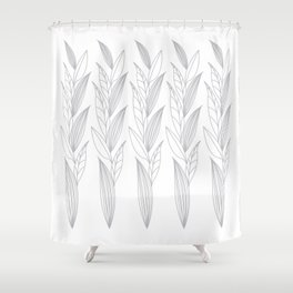 Eternity in Silver Leaf II Shower Curtain