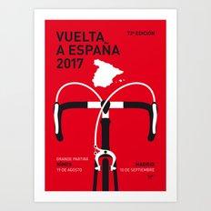 MY VUELTA A ESPANA MINIMAL POSTER 2017 Art Print