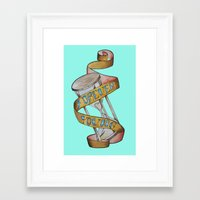 forever young Framed Art Prints featuring Forever Young by Blasto17