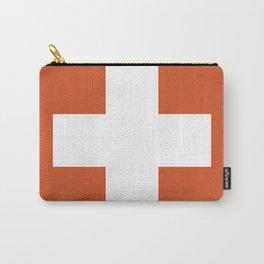 Swiss Cross Orange Carry-All Pouch