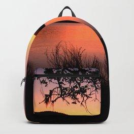 LAKE HENNESSEY - NAPA CALIFORNIA - SUNSET REFLECTION Backpack