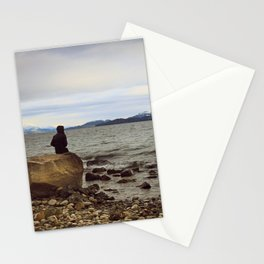 Looking at the lake Stationery Cards