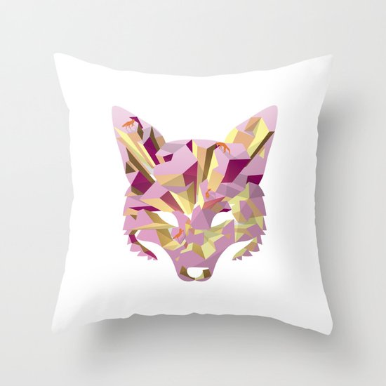 Land of fox Throw Pillow
