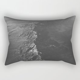 The Water (Black and White) Rectangular Pillow