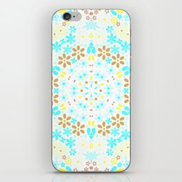 Abstract, floral pattern iPhone Skin