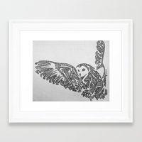 hunting Framed Art Prints featuring Hunting  by Larissa