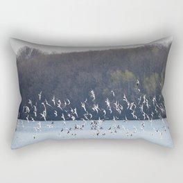 Bonaparte Gull Flock 2 Rectangular Pillow