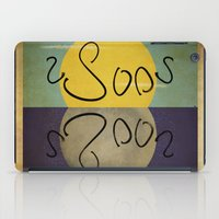 sun and moon iPad Cases featuring ambigram sun and moon  by gazonula