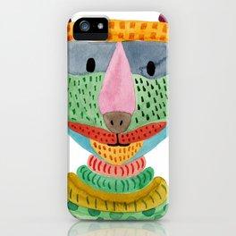 Cute Bear Watecolor iPhone Case
