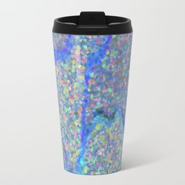 Beautiful Blue Surface Metal Travel Mug