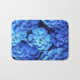 Succulent Plants In Blue Tones #decor #society6 #homedecor Bath Mat