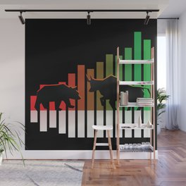 Bear VS Bull Stock Exchange Money Profit Shareholder Share Gift Wall Mural