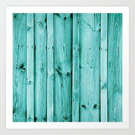 Blue Wood Texture Art Print