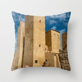 Castle in Spain Throw Pillow