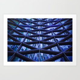 BLUE GLASS ROOF Art Print