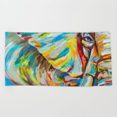 Elephant's eye Beach Towel