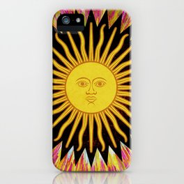 Psychedelic Sun Star iPhone Case