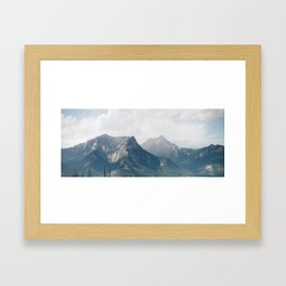 Lost in the Mountains Framed Art Print