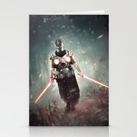 dark side Stationery Cards featuring Dark Side by jandrorevert