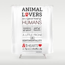 ANIMAL LOVERS Shower Curtain