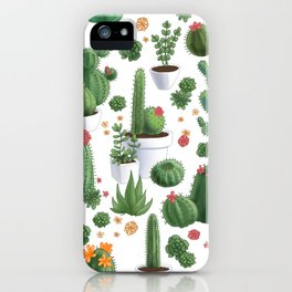 Succulent Cacti iPhone Case