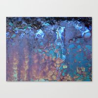 ice Canvas Prints featuring Waterfall  by Lena Weiss