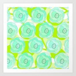 Mint Ombra Art Print