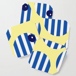 snooker balls in blue Coaster