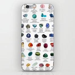 Crystal meanings and stone colours iPhone Skin