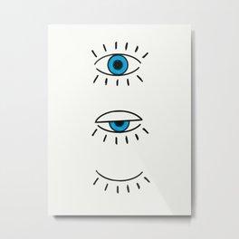 Summer Evil Eyes Metal Print