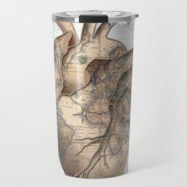 adventure heart-world map 1 Travel Mug