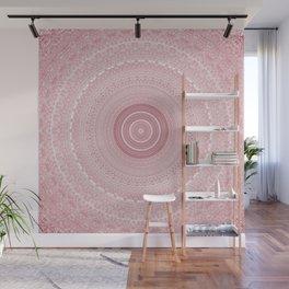 Boho Chic Glittery Pink Pastel Mandala Wall Mural