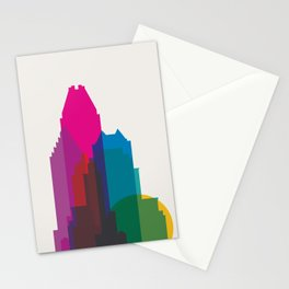 Shapes of Montreal. Accurate to scale. Stationery Cards