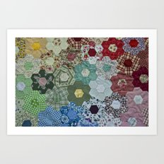 patchwork-design Art Print