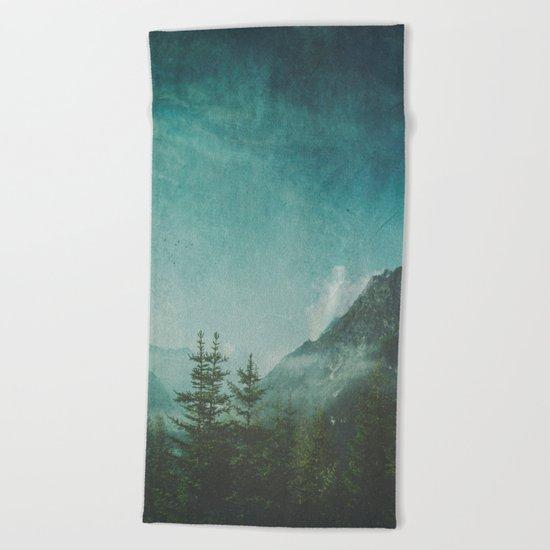 Misty Wilderness - Italian Alps Beach Towel