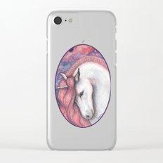 Sad unicorn Clear iPhone Case